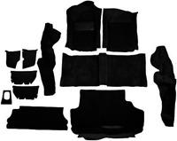 ACC 83-87 Porsche 944 Complete BLACK Molded Carpet Set 12pcs - Fits small spare