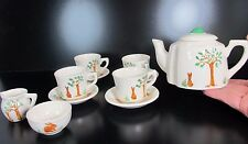 TOY size TEA PARTY serving 12 pces set Cups Saucers Creamer Sugar bowl England