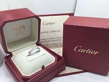 Cartier Lainères Ring 750/000 Weißgold Größe 51 mit Box und Zertifikat