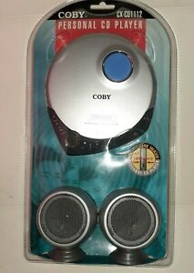 NOS Sealed COBY Personal CD Player w/ Headphones & Mini Speakers CX-CD1112