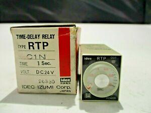 NEW IDEC RTP-C1N TIME DELAY RELAY 1 SEC.24V