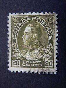 """#119 used NG  centred 20c olive green King George V """"Admiral"""" Issue,  CV=$50.00"""