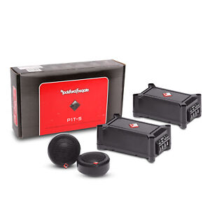 """Rockford Fosgate P1T-S 120W 1"""" 4-Ohm High-Pass PEI Dome Pair Tweeters Punch"""