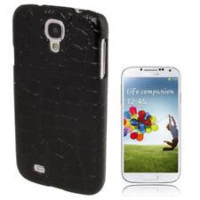 Croco Style Hardcase Schutzhülle für Samsung i9500 Galaxy S4 in schwarz Cover