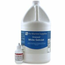 White Gelcoat (WITHOUT WAX) and Hardener Kit - Gallon, Fiberglass Boat Polyester