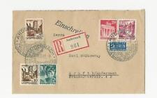 Echte Briefmarken aus der französischen Zone (ab 1945) mit Mischfrankatur
