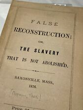 SCARCE early important treatise on American Slavery ORIGINAL Chap Book!