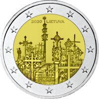 Originalrolle 25 * 2 Euro GDM Litauen 2020 Kreuzhügel
