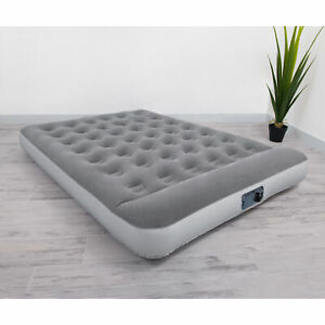 Full Inflatable Airbed Mattress Outdoor Travel Sleeping Camping Pad Bed w/ Pump