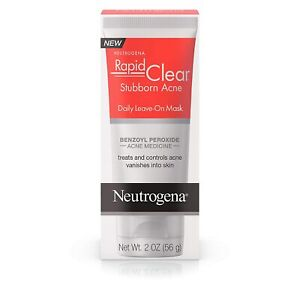 Neutrogena RAPID CLEAR Stubborn Acne Daily Leave-On Mask 2 oz (56g) 01/2022