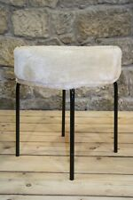 DDR Stoff Hocker, Vintage Retro Design Kult Stuhl chair