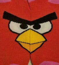 Rovio ANGRY BIRDS Casual No-Show Low-Cut Ankle Socks Red Pink Women Large 9-11