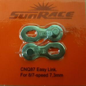 Kettenschloss 6/7/8fach Sunrace 7,3mm CNQ87 Easy Link
