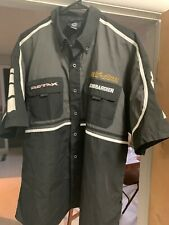 Ski-Doo Bombardier Short  Sleeve Shirt Button-Up Snowmobile  Racing Team Mens XL
