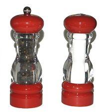 Olde Thompson Del Norte Red Pepper Mill Adjustable Grinder and Salt Shaker Set