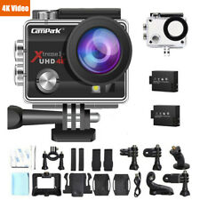 Campark ACT74 4K WiFi Waterproof Sports Action Camera - Black