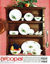 PUBLICITE ADVERTISING 036  1965  Arcopal    assiettes plats en verre trempé