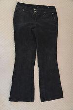 Cherokee Authentic Ladies Black Corduroy Jeans 10 Petite
