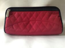 Travelon Jewelry and Cosmetic Cluch with Removal Center Pouch Red