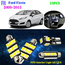 10Lights 5050 Super White 6000K Interior Light Kit LED Fit 2009-2015 Ford Fiesta