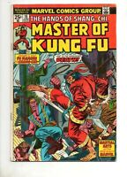 Master of Kung Fu 18 (#2) SHANG CHI 's 4TH APPEARANCE 1974 VG/F 5.0 Marvel Movie