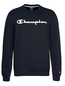 Champion Size L Large Navy Blue Logo SWEATSHIRT Top Xmas Gift Casual £46
