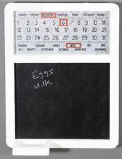 In Legno Lavagna & Calendario Magnetico Perpetuo, Rustico, legno effetto anticato, bianco