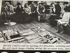 1968 Immaculate Heart College Mailer Featuring Sister Mary Corita Kent Art Class