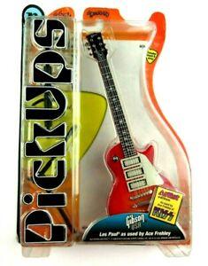 NIP Pick Ups Ace Frehley Les Paul Guitar Authentic Miniature Collectible Model