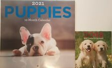 "2021 Puppies Wall Calendar 2 Pack 12 Months Puppies = 11� x 12� & Dogs = 6"" x 6"""