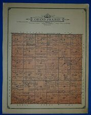 1914 Plat Map ~ GRAND PRAIRIE Twp. PLATTE Co. NEBRASKA Land Genealogy Ancestry
