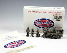 Americana Pewter Collection Set 4 Pewter Locomotive Figurines Ah30 Liberty Falls