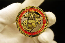 U.S. Army MARINE CORPS HONOR COURAGE COMMITMENT CHALLENGE COIN