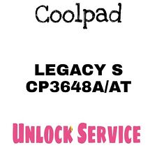 Coolpad Legacy S cp3648a/at All Versions Unlock Service Boost Sprint Virgin
