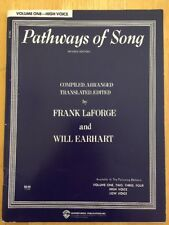 Pathways Of Songs Frank LaForge Vol 1 High Voice Will Earhart Warner Bros 62 pos