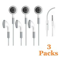3 Pack Earphone with Microphone for Apple iPod Nano 1 2 3 4 5 6 7 Generation