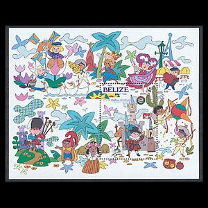 Belize, Sc #795, MNH, 1985, S/S, Disney, Christmas, EID-B