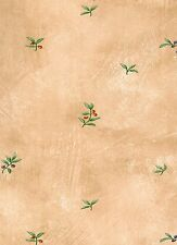Wallpaper Olive Branch Toss On Tan Old World Faux