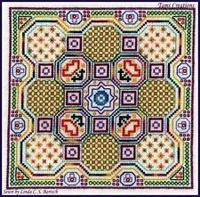Sale 50% Off Tams Creations X-stitch Chart-Blackwork Quilt Block-Gemma