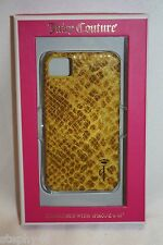 NEW! JUICY COUTURE Yellow Diamond Snake Leather iPhone 4/4s Case YTRUT175