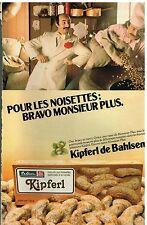 Publicité Advertising 1979 Les Biscuits Kipferl de Bahlsen