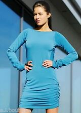 VICKY MARTIN turquoise aqua KATY backless long sleeved mini dress BNWT 12 14 (3)