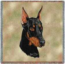 Lap Square Blanket - Doberman Pinscher by Robert May 1158 In Stock