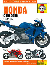 Haynes 4590 motociclo servizio riparazione manuale del proprietario HONDA CBR600RR 2003 - 2006