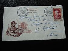 FRANCE - enveloppe 15/6/1957 quentin de la tour (cy6) (A)