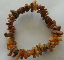 Stretch   raw unpolished     Baltic Amber Bracelet  #8 raw