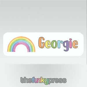 Personalised Watercolour Rainbow Aluminium Bookmark Add Your Name For Free