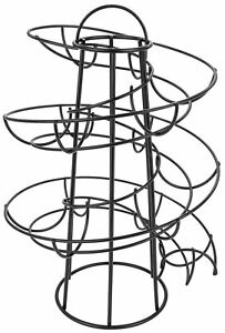 Espace Économie Design Moderne Œuf Skelter Agenda Rack Métal Noir Support