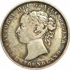 1882-H CANADA NEWFOUNDLAND 50 CENTS - VERY NICE CIRC SPECIMEN! -d404duth