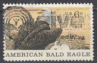 USA Briefmarke gestempelt 6c American Bald Eagle Weißkopfseeadler Vogel / 3401